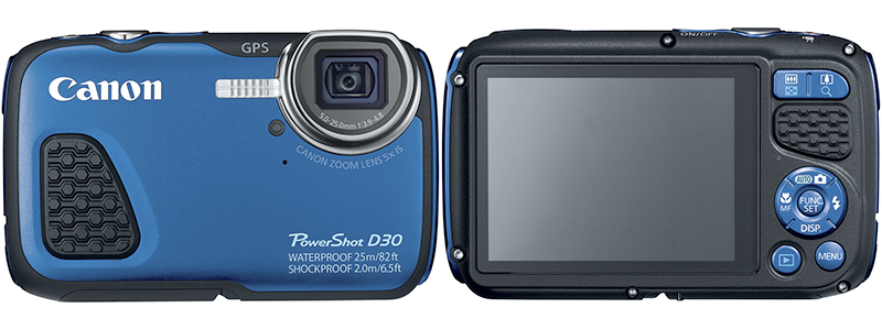canon poweshot d30 - best Canon waterproof camera