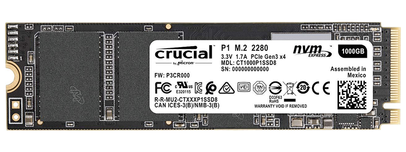 crucial p1 3d nand nvme ssd