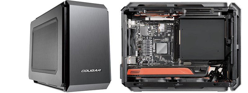 It S Probably The Est Pc Case On This List Of Best Computer Cases Today Market Cougar Qbx Supports High End Graphic Cards Up To 4 Ssd