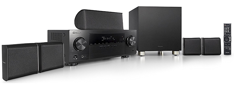 pioneer 5 1 home theater system htp-074
