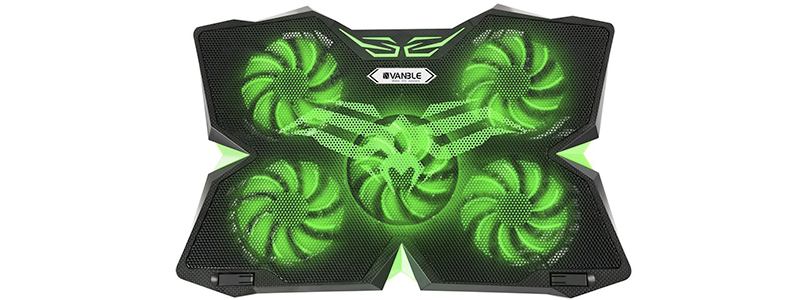 vanble 5 fans gaming laptop cooling pad