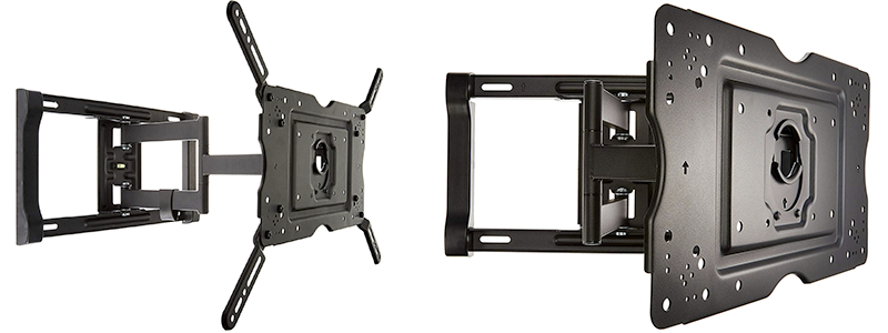 amazonbasics full motion articulating tv wall mount