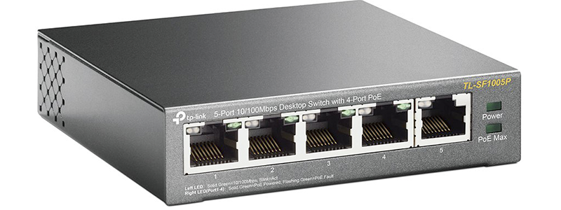 tp-link 5 port poe switch tl-sf1005p