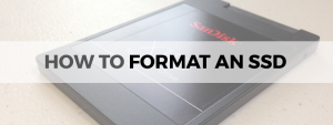 how to format an ssd
