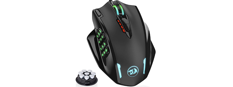 redragon impact rgb led mmo mouse