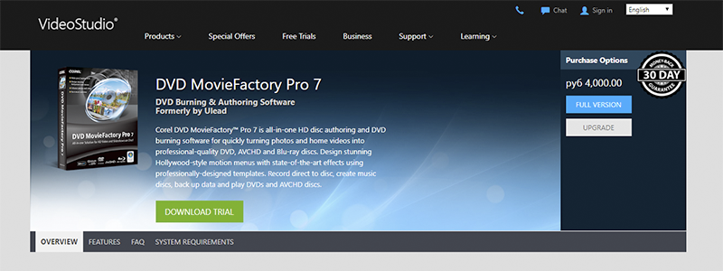 dvd moviefactory pro