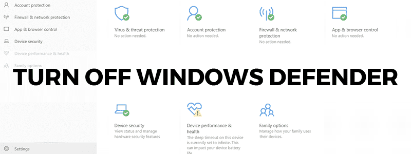 how to turn off disable or uninstall windows defender