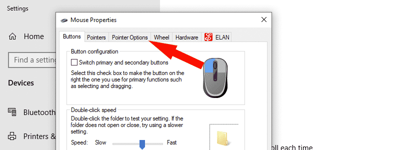 how to turn off mouse acceleration in windows 10 5