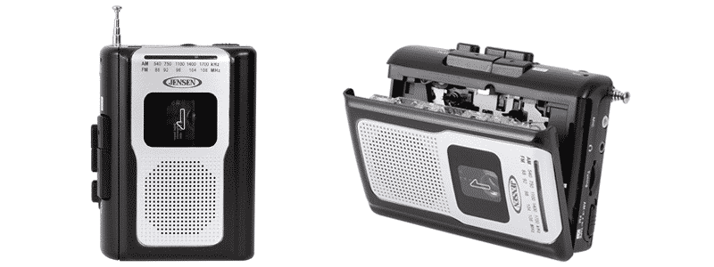 jensen retro portable am-fm radio personal cassette player