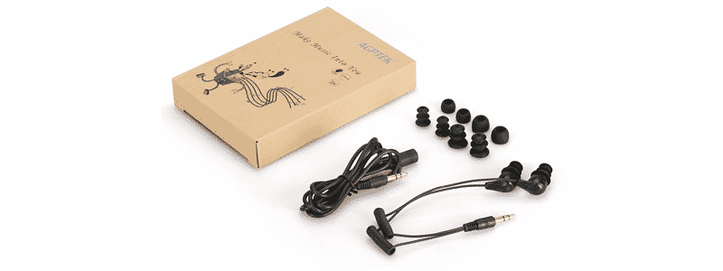 agptek ipx8 waterproof in-ear earphones