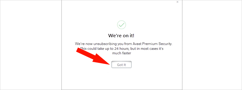 how to cancel avast subscription 8