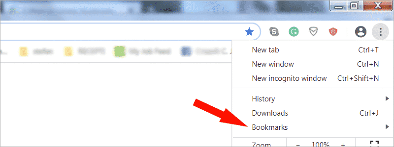 how to delete bookmarks on chrome 2