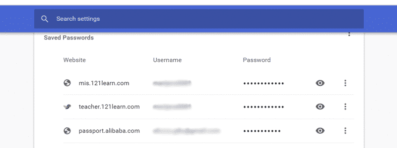 how to find saved passwords on chrome 5