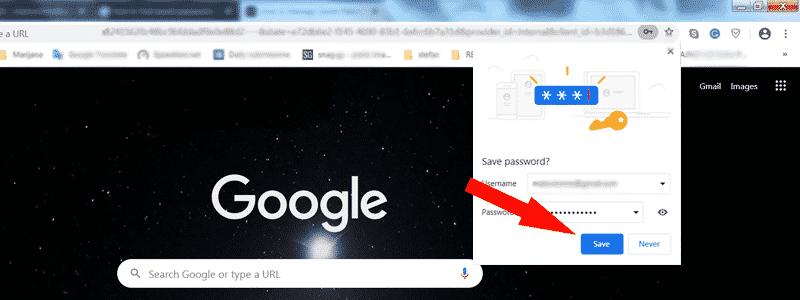 how to save password on chrome 6