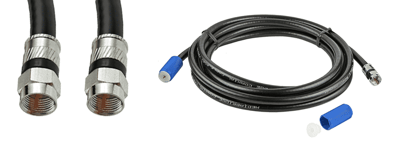 mediabridge coaxial cable with f-male connectors