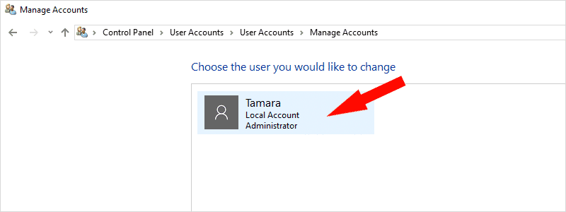 how to change account name on windows 10 4