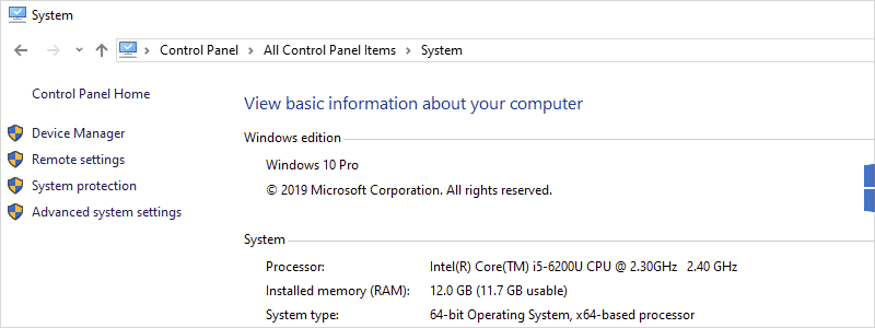 how to check ram on windows 10 13