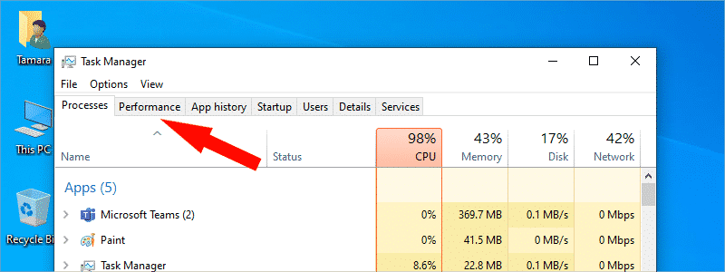 how to check ram on windows 10 3