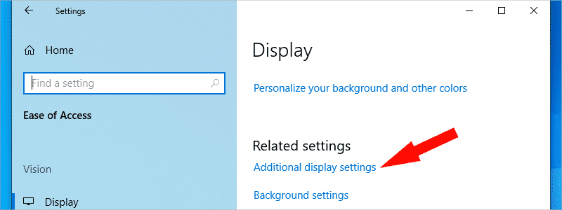 how to check screen resolution on windows 10 4