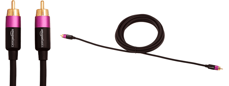 amazonbasics rca audio subwoofer cable