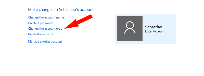 how to change administrator on windows 10 m