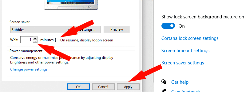 how to enable screensaver on windows 10 g