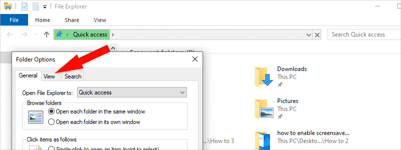 how to show hidden files in windows 10 e