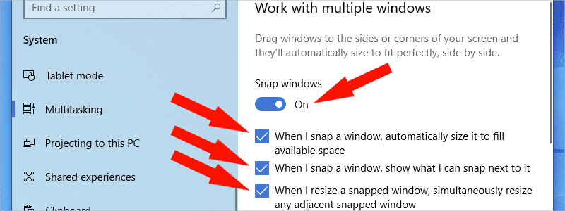 how to split screen on windows 10 d