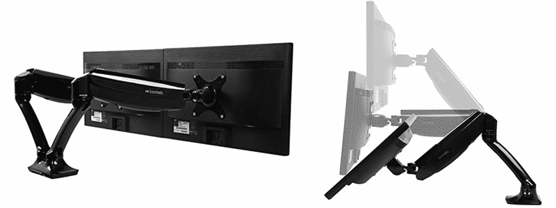 loctek dual monitor arm d5d