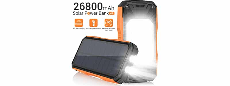 panergy 26800mah solar charger power bank