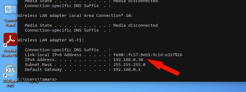 how to find ip address on windows 10 14