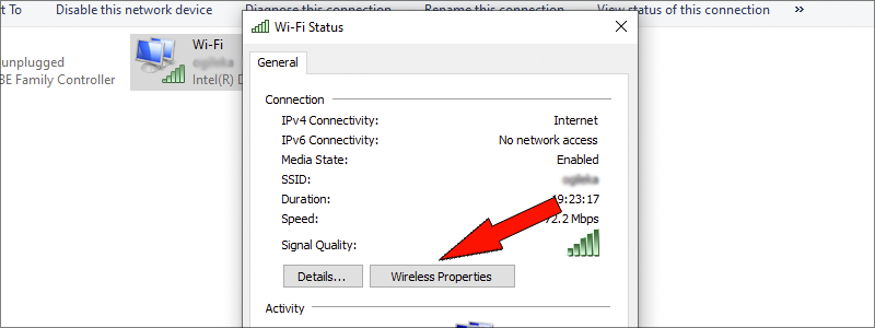how to find wi-fi password on windows 10 12
