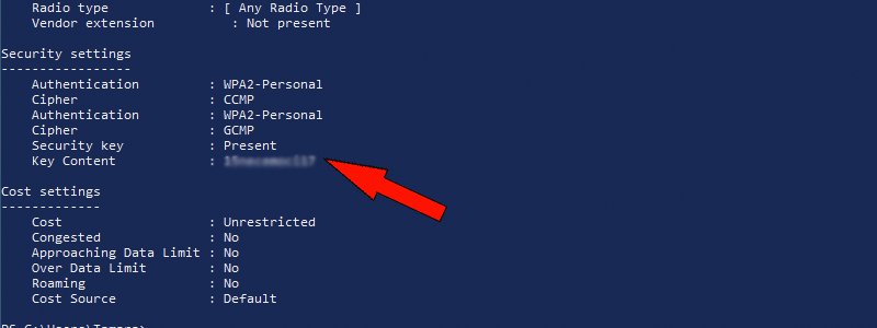 how to find wi-fi password on windows 10 15