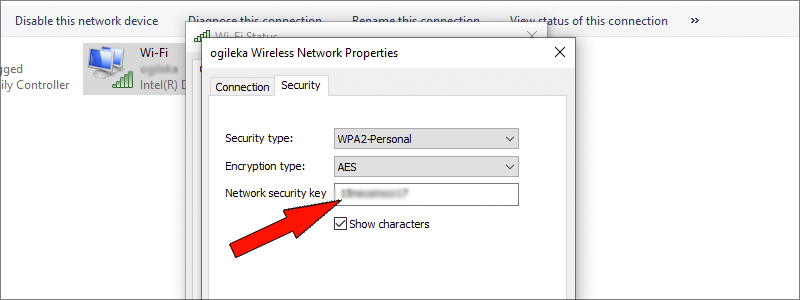 how to find wi-fi password on windows 10 8