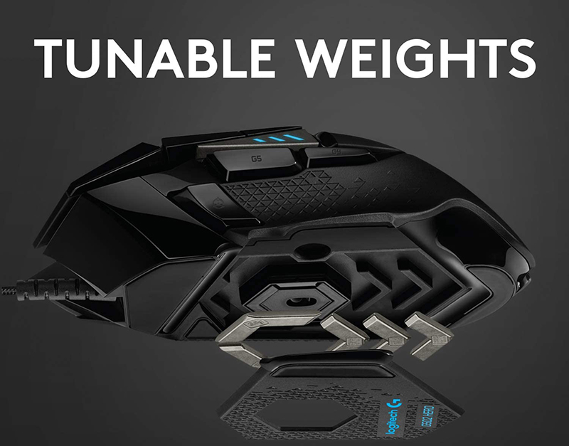 logitech g 502 tunable weights