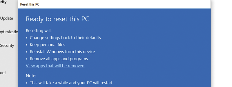how to factory reset windows 10 10