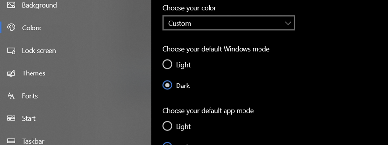 how to turn on windows 10 dark theme 8